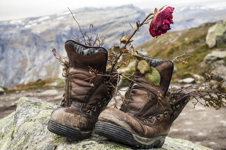 Trolltunga shoes. Vanlife Cold Temperature Been There. Done That. Lost In The Landscape Norway🇳🇴 No People Winter Travel Destinations Nature Shoesporn Wandering Wilderness Adventure An Eye For Travel Love Yourself