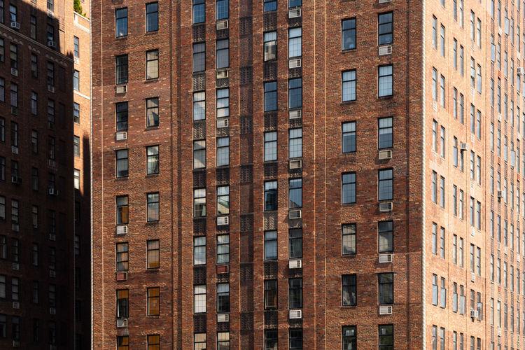 Full frame shot of old building in new york