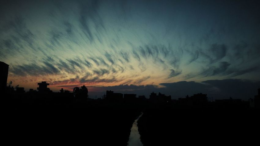 Silhouette Dramatic Sky Tree Night No People Tranquility Landscape Nature Scenics Sunset Sky Beauty In Nature Outdoors Illuminated Astronomy