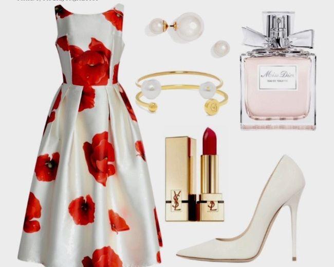 Ysl Dior Parfum Red Dress Romantic White Flowers Fashion Fashion&love&beauty