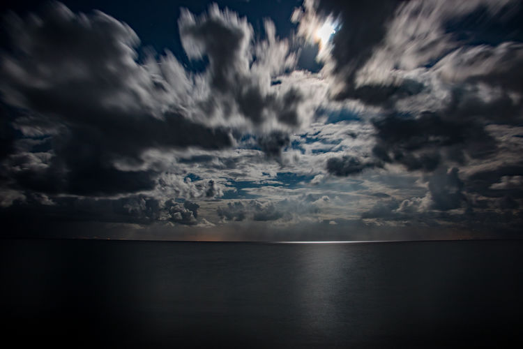 Cloudscape Over Sea At Dusk