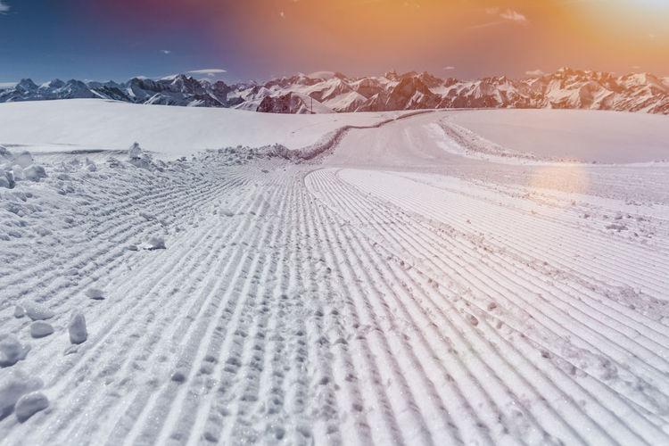 Ski resort Nebelhorn, Allgaeu, Germany Allgäu Bavaria Hochvogel Kleinwalsertal Nebelhorn Panorama Ski Lift Ski Touring Skiing Tirol  Allgaeu Alps Bayern Beauty In Nature Germany Landscape Nature Oberstdorf Scenics Ski Ski Holiday Ski Resort  Slope Snow Winter