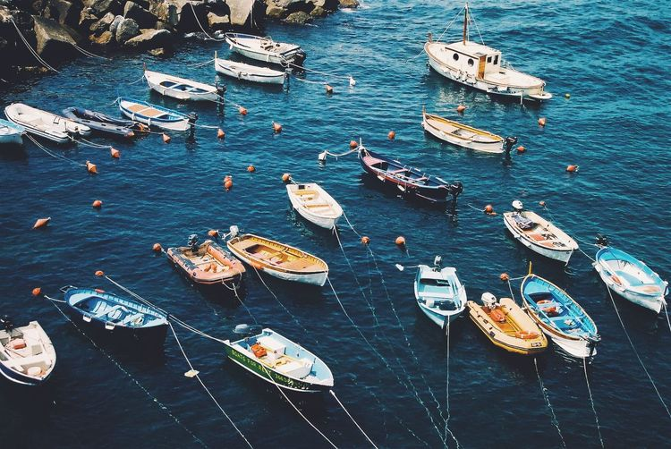 Vernazza Boats Mood Summer Italy