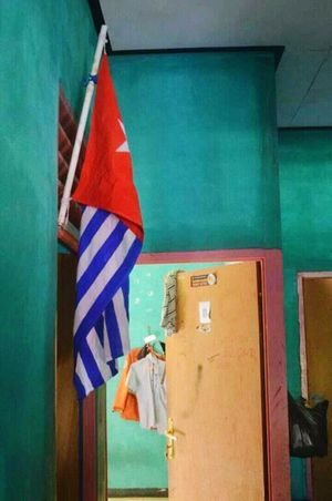 Indoors  No People Uniform Of West Papua Tradition Patriotism West Papua Want To Free Of Indonesia Colonial. Papua Free Of Indonesia Colonial West Papua Politic Of Freedom West Papua People West Papua Flag Flag