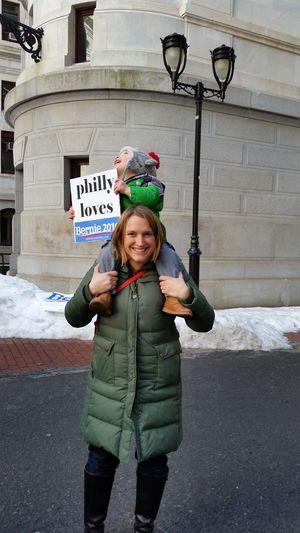 Bernie Rally Bernie Sanders For Presient CHILDRENS FUTURE Democracy Bernie Sanders Democratic Convention Happiness Pennsylvania Pennsylvaniaphotography Person Philadelphia Philadelphia For Bernie Vision