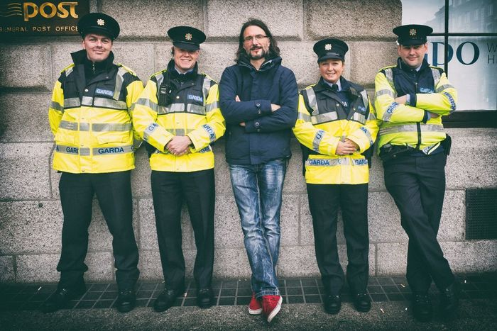 Courtesy of the Dublin Police (Garda) During my brief visit, the Irish were very friendly, kind and helpful. The Irish cops made no exception. Cops Dublin Friendly Garda Helping A Tourist Out Ireland Middle Mix Not Arreste Police Portrait Side By Side