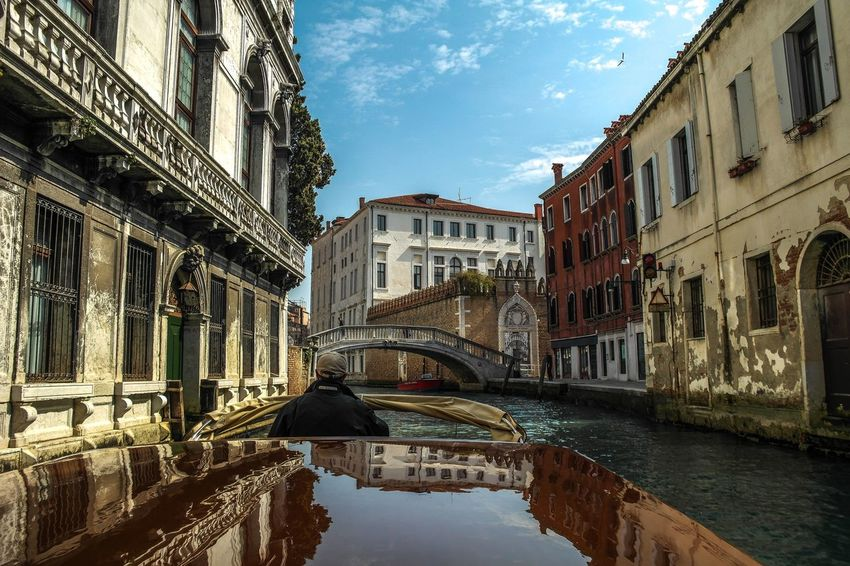 Venice - March 2015 Blue Transportation Canal Boat Europe Italy Venice Architecture Building Exterior Built Structure Sky Reflection Cloud - Sky Water Day City EyeEm Ready