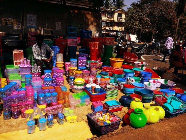 Multi Colored Choice Market Variation Retail  For Sale Business Market Stall Flea Market Street Art Farmer Market Colorful Stall Street Market