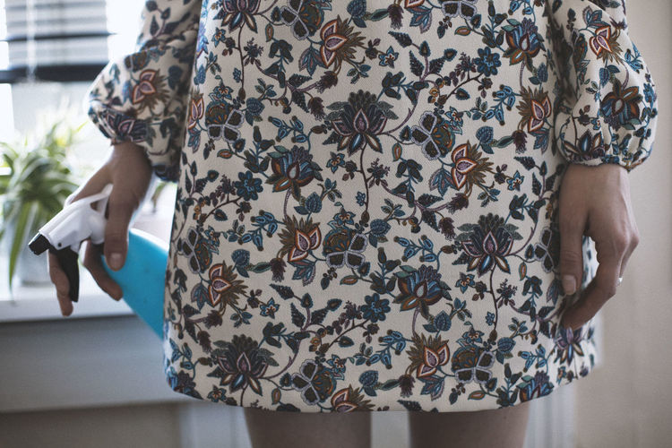 Awake, still sleeping ... Floral Pattern Pattern Standing One Person Adult Casual Clothing Women Indoors  Day Lifestyles Fashion Human Body Part Dress Personal Perspective Textured  Cocktail Dress Fabric Rebellion Human Finger Design
