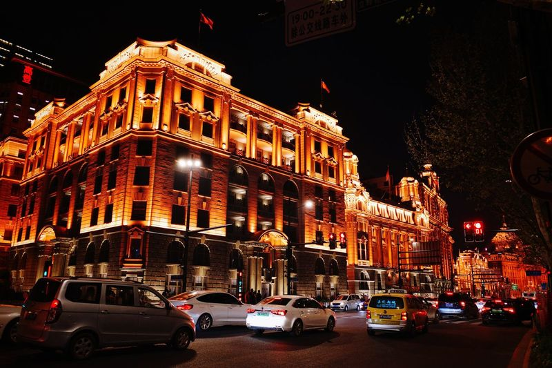 Shanghai Ricoh GRlll Street Land Vehicle Mode Of Transportation Built Structure Building Exterior Transportation Motor Vehicle City Traffic Car Road City Street Travel Illuminated Night Architecture Decoration City Life Sky Building My Best Photo