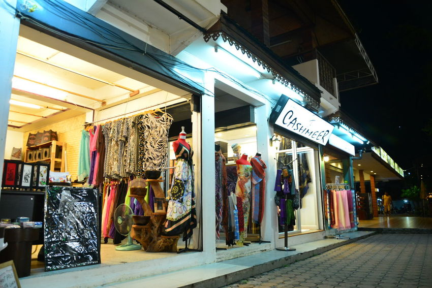 Architecture Bazaar Built Structure Casual Clothing Chiang Rai, Thailand City Life Day Illuminated Lifestyles Multi Colored Night Night Bazaar Retail  Shop Store