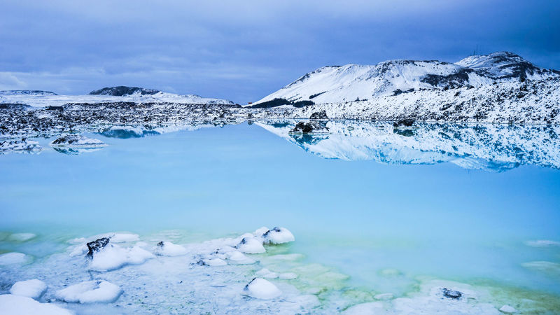Beauty In Nature Blue Lagoon Cold Temperature Covered Iceland Iceland_collection Icelandic_explorer Ice Age Landscapes With WhiteWall Mountain Mountain Range Nature Scenics Season  Sky Snow Snowcapped Snowcapped Mountain Tranquil Scene Tranquility Weather White Color Winter Light And Reflection