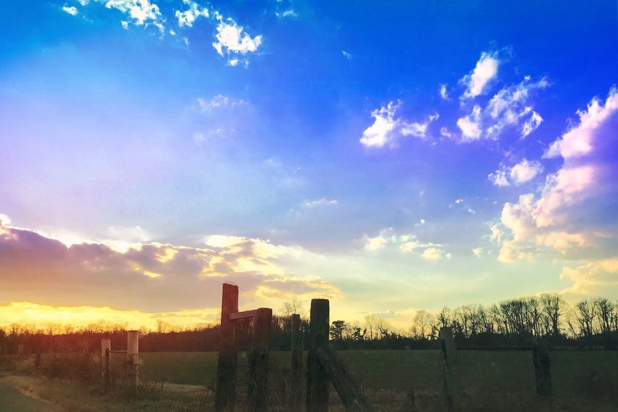 Country road sunset Sky Tranquility Nature Outdoors Tranquil Scene Sunset Landscape Sunset_collection Sunset Silhouettes Sky And Clouds Sky_collection Sky_collection Sunsets Scenics Sunset And Clouds