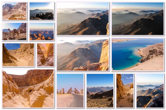 Egypt pictures collage of different famous locations landmark of Sinai Peninsula, Africa. Collage Collages Egypt Landmarks Ras Mohammed Sinai Peninsula Aerial View Allah Door Backgrounds Beauty In Nature Cold Temperature Collage Day Desert Beauty Digital Composite Egyptian Isolated White Background Landmak Landscape Location Mountain Multiple Image Nature No People Outdoors Scenics Sinai Sinai Egypt Sky Snow Tranquil Scene Travel Destinations Variation Water