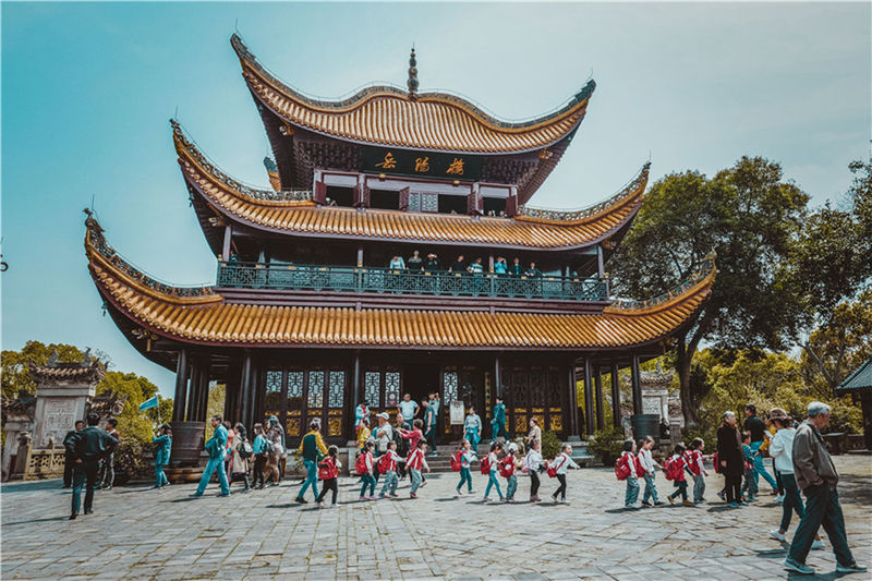 Yueyang Building Architecture Building Exterior Built Structure Large Group Of People Nature Outdoors Real People