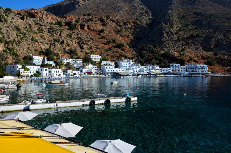 Loutro village on crete island.