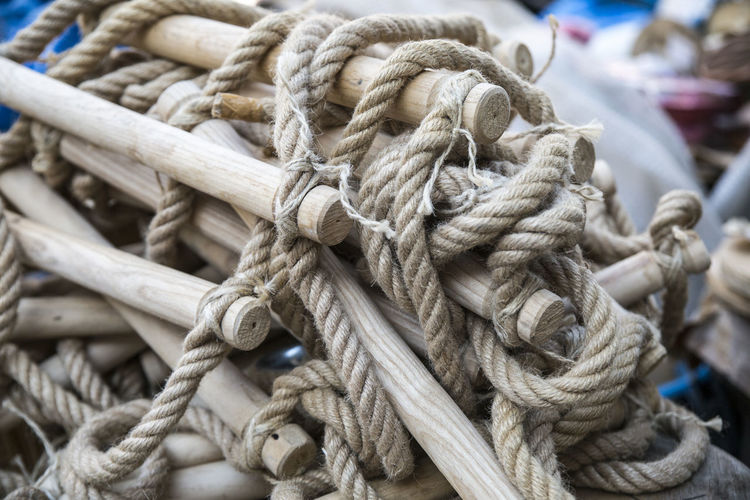 Close-up Complexity Connection Day Durability Fishing Industry Focus On Foreground Nature Nautical Vessel No People Outdoors Pattern Rope Still Life Strength String Tangled Textured  Tied Knot Tied Up Transportation