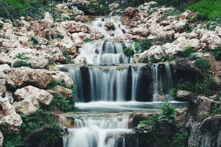 Beautiful view of waterfall in forest