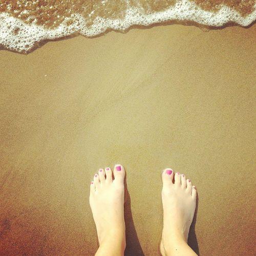 Walking On The Sand Summertime Sea Feet
