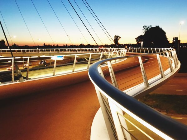 On the Hovenring, Eindhoven Hovenring Eindhoven Bikepath Urban Architecture Netherlands Curves Rope