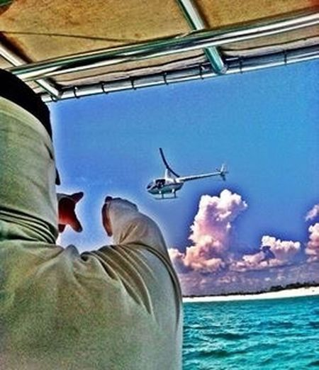 Enjoying Life Go Fishing! Robinson R 44 Boats And Clouds Destin FL Gopro Aerial Photography Canonxa10 Gulf Of Mexico