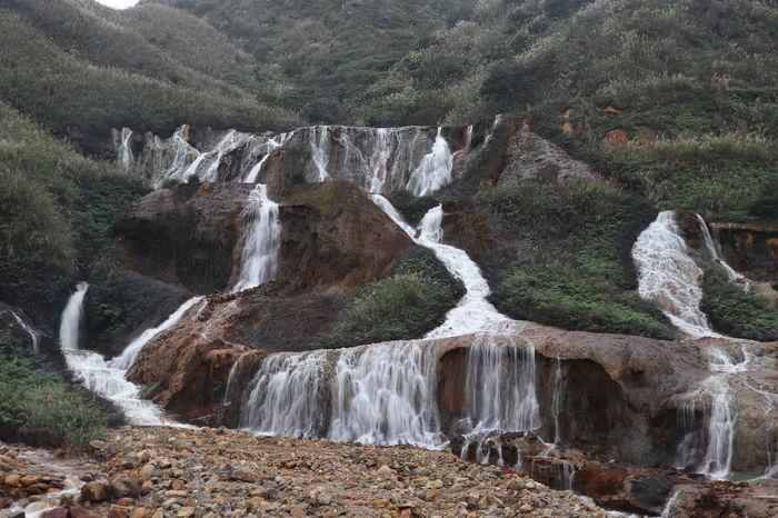 Waterfall Road Taiwan The Great Outdoors - 2018 EyeEm Awards Beach Day Jiufen Land Nature Outdoors Scenics - Nature Taipei Water Waterfall Waves Yinyang Sea