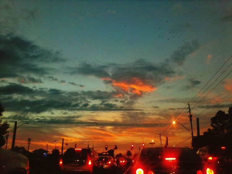 Drive Home Home Sweet Home Florida Love Fall Sunset Beautiful Clouds