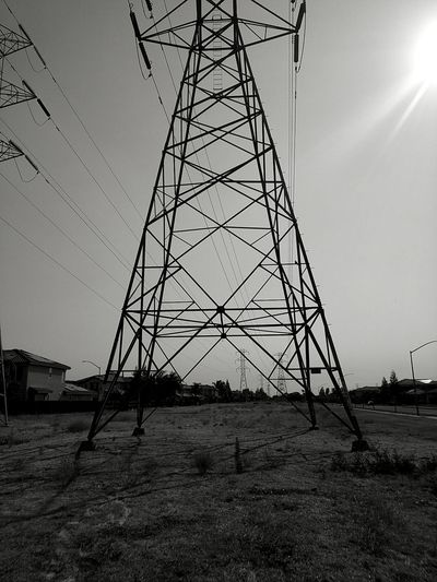 Electric Tower 2016© Riverbank California Crossroads Central Valley Outdoor Photography Electric Grid
