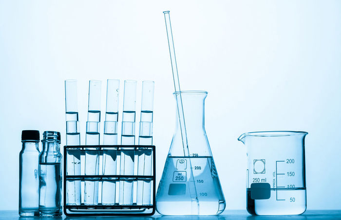 science background Bottle Chemistry Day Flask Glass - Material Healthcare And Medicine Indoors  Laboratory Liquid Medical Research No People Research Science Scientific Experiment Studio Shot Test Tube Test Tube Rack White Background