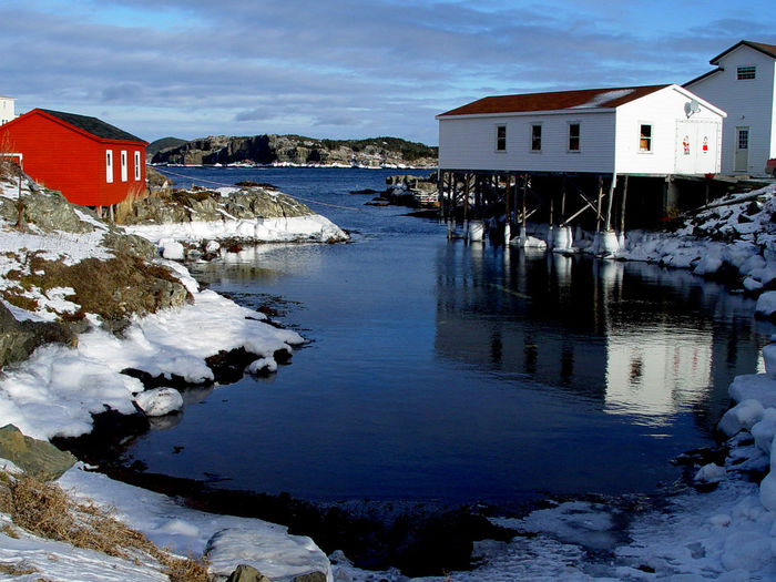 Rural Newfoundland scenes Architecture Beauty In Nature Building Exterior Built Structure Cloud - Sky Cold Temperature Day Mountain Nature Newfoundland Newfoundland, Canada No People Ocean Outdoors Rocks Rocks And Water Rural Saltwater Sea Seascapes Sky Snow Tranquility Water Winter