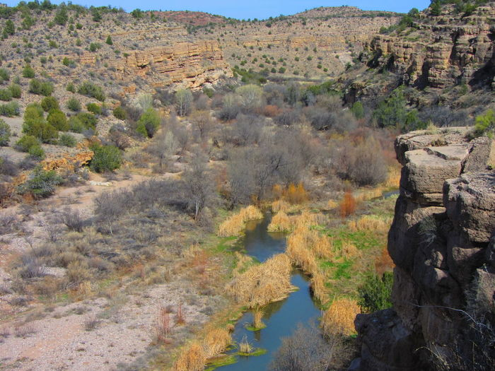 Upper Verde River, Arizona. Arizona Creek Winter Arid Climate Beauty In Nature Canyon Day Geology Landscape Nature No People Outdoors River Rock - Object Scenics Stream - Flowing Water Tranquil Scene Tranquility Verde River Water Shades Of Winter