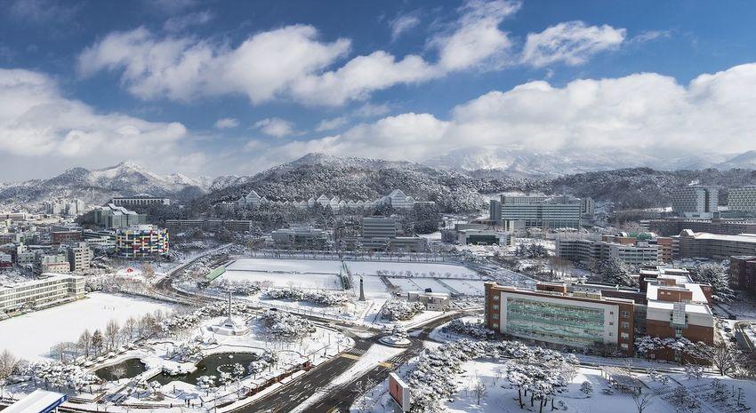 설경 Korea EyeEm Best Shots EyeEmNewHere Snow EyeEm Selects Shades Of Winter Cloud - Sky Cityscape Outdoors Technology No People Sky City