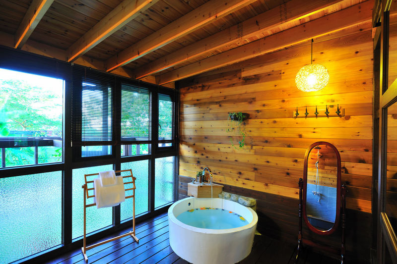 Bathing to promote blood circulation, metabolism, quality of life is good Lifestyle Bathing Architecture Bathroom Bathroom Art Blood Circulation Built Structure Clean Comfortable Day Fresh Health Illuminated Indoors  Metabolism No People Spa Warm Warmth Water Window