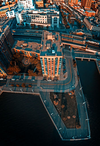Aerial landscape of yonkers, ny