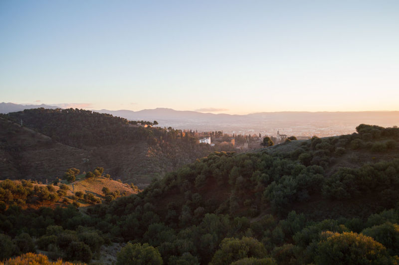 Granada, Spain SPAIN Andalusia Sacromonte Alhambra Albaycin Albaicin Scenics - Nature Tree Sky Plant Beauty In Nature Tranquil Scene Nature Mountain Tranquility Landscape Environment No People Copy Space Architecture High Angle View Non-urban Scene Outdoors Built Structure Land Growth