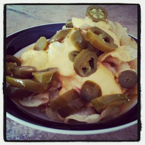 homemade potato chip nachos. Fuck yea!!!!!!