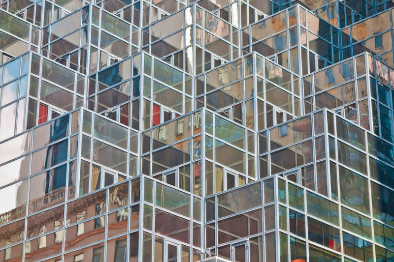 Architecture Structures & Lines Building No People City Modern Glass - Material Outdoors Multi Colored Skyscraper 17.62°
