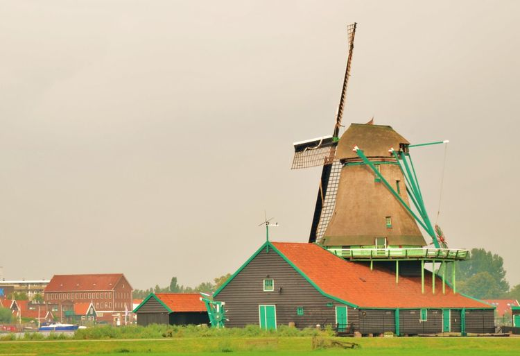 Zaanse Schans Built Structure Building Exterior Architecture Building Sky Wind Power Wind Turbine Traditional Windmill Renewable Energy Alternative Energy Turbine Fuel And Power Generation House Day Outdoors Landscape Holly_photograph Holiday Moments