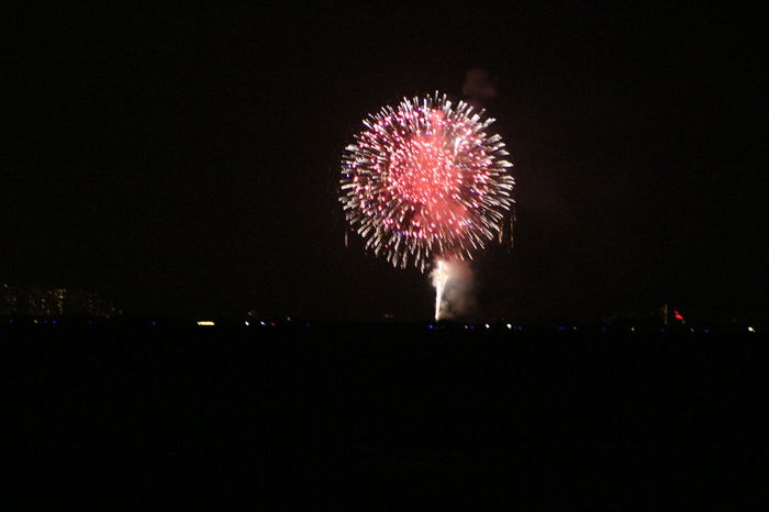 Arts Culture And Entertainment Dark Sky Fireworks Fireworksphotography Glowing New Year's Eve Fireworks New Years Eve Hawaii Night Night Photography Night Sky NYE 2016