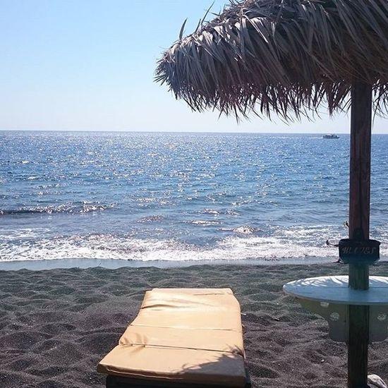 Perissa Santorini Blackbeach Greece Seaside