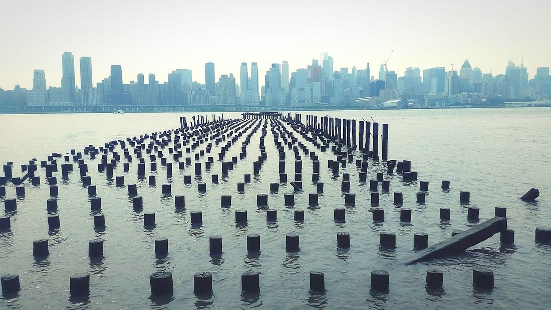 NYC Morningrun City Skyline Skyline Nycskyline  Waterscape Skyscrapers