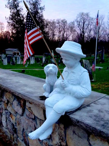 Birthplace of a holiday. Taken in 2013 Cemetery Memorial Memorial Day American Flag Dog Statue Memorialday Memorialweekend War Memorial Memorial Park