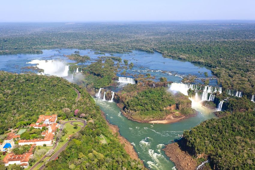 Iguazu falls aerial view, argentina Iguazu Falls Iguazu National Park Iguazu Iguazu 🌈🔆 IguazuFalls Aerial View Falls Waterfall Argentina Brazil Argentina 👑🎉🎊👌😚😍 High Angle Water Sea Tree High Angle View Beach Sky Shore Wave Horizon Over Water