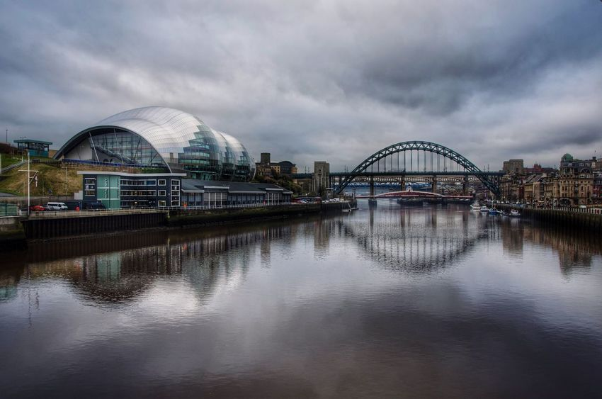 Newcastle Newcastle Upon Tyne Tyne Bridge Architecture Sky Building Exterior Cloud - Sky Built Structure Reflection Travel Destinations City Outdoors Water No People Day River Check This Out TheWeekOnEyeEM Nikonphotography Nikon Reflection Reflection_collection Thesagegateshead
