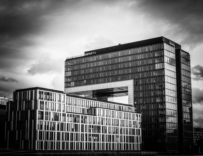 Leicacologne Rheinauhafen Architecture Building Exterior Built Structure Sky Modern Day Cloud - Sky Outdoors Skyscraper No People Low Angle View City