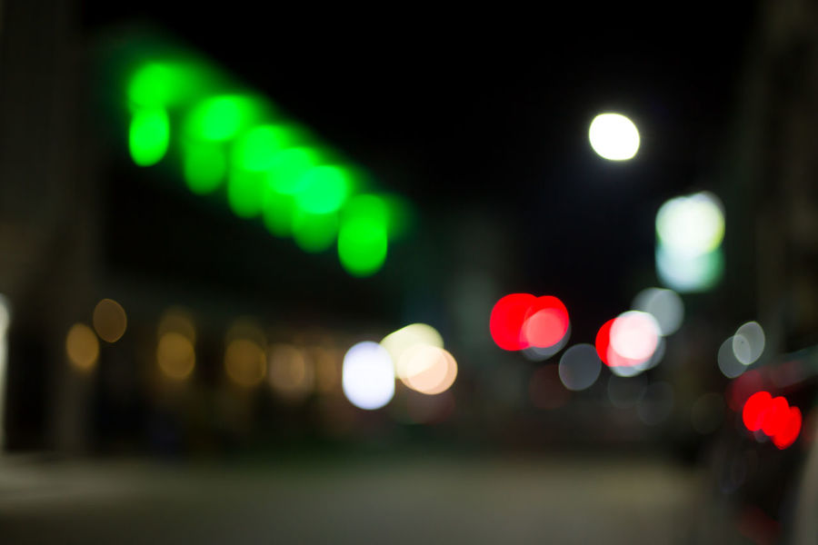 Architecture Background Bokeh Bokeh Circle City Defocused Geometric Shape Glowing Green Color Illuminated Lens Flare Light Light - Natural Phenomenon Lighting Equipment Motor Vehicle Night Nightlife No People Red Shape Street Street Light Transportation