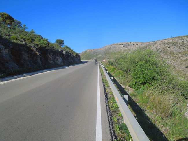 Die Straßen von Andlusien Andalucía Andalucía Nature Asphalt Blue Clear Sky Landscape Nature On The Road Road Scenics Sky Sunlight The Way Forward Vast