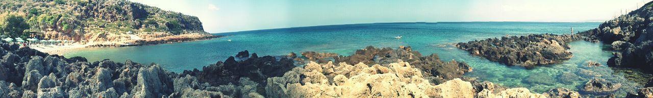 panoramic, beach, rock, crete, greece First Eyeem Photo
