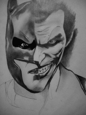 Batman and joker !! Batman Joker Justiceleague Drawingtime Art Sketch Art Blackandwhite Just Drawing Follow Me HASHTAG