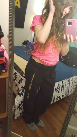 Yay College Fuckit Sweatpants since its Rainy Days When I Miss My Boy If You Were Here youd have these off by now